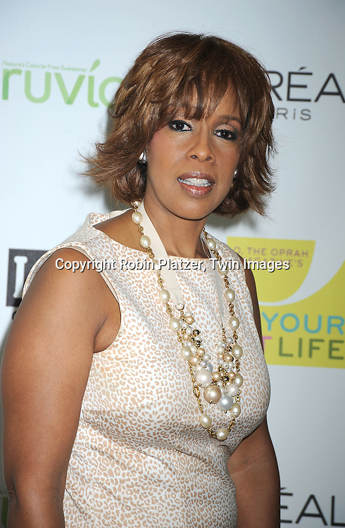 "Gayle King arriving at O, The Oprah Magazine's  Celebration of  it's 10th Anniversay at the ""Live Your Best Life"" event at The Jacob Javits Center on May 8, 2010."