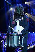 WEST PALM BEACH, FL - JULY 24: Chris Fehn of Slipknot performs at The Coral Sky Amphitheater on July 24, 2015 in West Palm Beach Florida. Credit Larry Marano © 2015