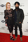 Actor/designer Waris Ahluwalia and guest arrive at the U.S. premiere of the movie Disobedience, on April 22 2018, during the Tribeca Film Festival in New York City.