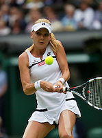 02-07-13, England, London,  AELTC, Wimbledon, Tennis, Wimbledon 2013, Day eight, Agnieszka Radwanska (POL)<br /> <br /> <br /> <br /> Photo: Henk Koster