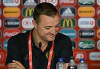 20170719 - BREDA , NETHERLANDS :  Belgian head coach Ives Serneels pictured during a press conference of the Belgian national women's soccer team Red Flames, on Wednesday 19 July 2017 at stadion Rat Verlegh in Breda on matchday -1 . The Red Flames are at the Women's European Championship 2017 in the Netherlands. PHOTO SPORTPIX.BE | DAVID CATRY
