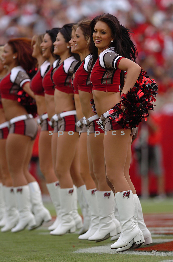 CHEERLEADERS, of the Tampa Bay Buccaneers, during their game  against the Seattle Seahawks on December 31, 2006 in Tampa Bay, FL...Seattle wins 23-7...TOMASSO DEROSA/ SPORTPICS