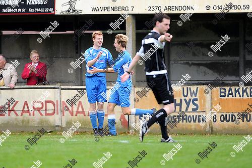 2015-11-08 / Voetbal / seizoen 2015-2016 / Zwaneven FC - Sint-Jozef / St-Jozef viert de 0-1 van Jeroen Verboven<br /><br />Foto: Mpics.be