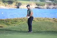 Patrick Reed (USA) in action at Pebble Beach Golf Links during the third round of the AT&T Pro-Am, Pebble Beach Golf Links, Monterey, USA. 09/02/2019<br /> Picture: Golffile | Phil Inglis<br /> <br /> <br /> All photo usage must carry mandatory copyright credit (© Golffile | Phil Inglis)