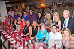 Rita Rahilly from Chute Hall, Tralee celebrating her 60th Birthday with family and friends at Cassidy's on Saturday.  Pictured front l-r Vivian Sugrue, George Sugrue, Mary Sugrue, Grace Pallard, Rita Rahilly, Angela Horan, Patsy O'Connor, Marian Murphy, Fiachra Dunne, Maeve O'Rahilly.  Back left to right, Ivan Blennerhassett, Joe Goodall, Margaret Goodall, Nora McDonagh, Mary Conroy, Tommy Conroy, Aine Kenny, Tess Breen, Margaret McIntyre, John O'Mahony
