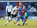 Inverness Caledonian Thistle v St Johnstone...24.10.15  SPFL  Tulloch Stadium, Inverness<br /> Murray Davidson and James Vincent<br /> Picture by Graeme Hart.<br /> Copyright Perthshire Picture Agency<br /> Tel: 01738 623350  Mobile: 07990 594431