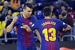 League LNFS 2017/2018 - Game 15.<br /> FC Barcelona Lassa vs Gran Canaria FS: 9-2.<br /> Sergio Lozano &amp; Joselito Fernandez.