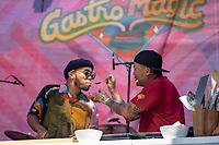 SAN FRANCISCO, CALIFORNIA - AUGUST 11: Anderson .Paak and Roy Choi during the 2019 Outside Lands Music And Arts Festival at Golden Gate Park on August 11, 2019 in San Francisco, California. Photo: Alison Brown/imageSPACE/MediaPunch