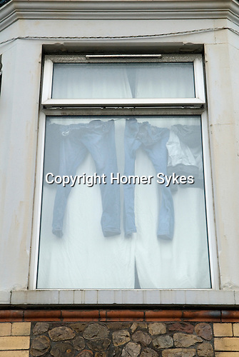 Made in Roath Arts Festival 2014. Cardiff Wales. Front upstairs window display.
