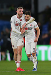 Oli McBurnie of Sheffield Utd celebrates with George Baldock of Sheffield Utd during the Premier League match at Selhurst Park, London. Picture date: 1st February 2020. Picture credit should read: Paul Terry/Sportimage