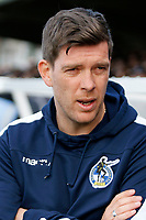 Bristol Rovers manager, Darrell Clarke seen during the Sky Bet League 1 match between AFC Wimbledon and Bristol Rovers at the Cherry Red Records Stadium, Kingston, England on 17 February 2018. Photo by Carlton Myrie.