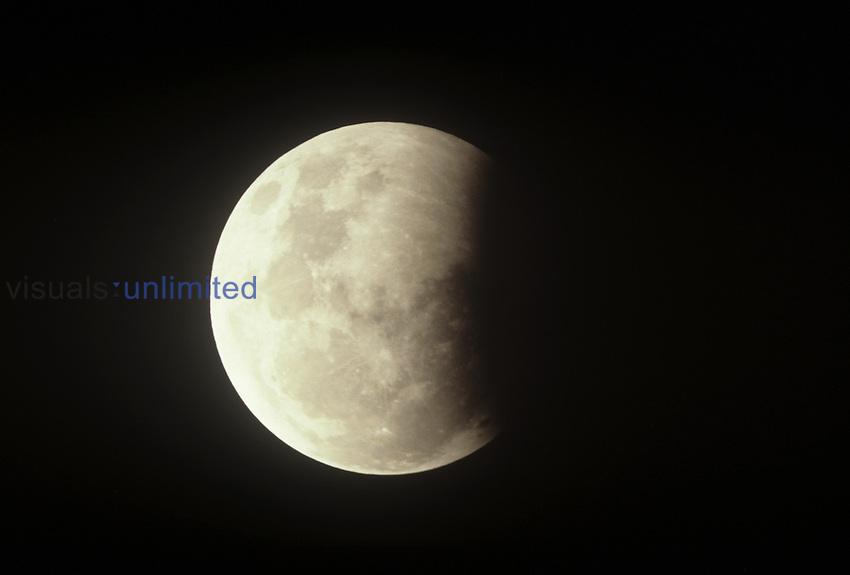 Partial lunar eclipse ,July 16, 1981,.