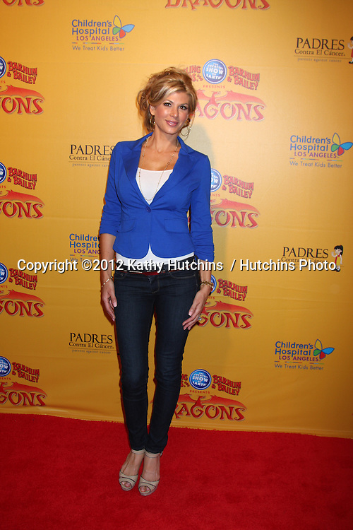 LOS ANGELES - JUL 12:  Alexis Bellino arrives at 'Dragons' presented by Ringling Bros. & Barnum & Bailey Circus at Staples Center on July 12, 2012 in Los Angeles, CA