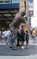 Ballparks: Pittsburgh PNC Park. Bronze of Willie Stargell.