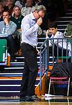 S&ouml;dert&auml;lje 2015-10-20 Basket Basketligan S&ouml;dert&auml;lje Kings - Bor&aring;s Basket :  <br /> Bor&aring;s head coach Patrick Pat Ryan deppar under matchen mellan S&ouml;dert&auml;lje Kings och Bor&aring;s Basket <br /> (Foto: Kenta J&ouml;nsson) Nyckelord:  S&ouml;dert&auml;lje Kings SBBK T&auml;ljehallen Bor&aring;s Basket depp besviken besvikelse sorg ledsen deppig nedst&auml;md uppgiven sad disappointment disappointed dejected tr&auml;nare manager coach