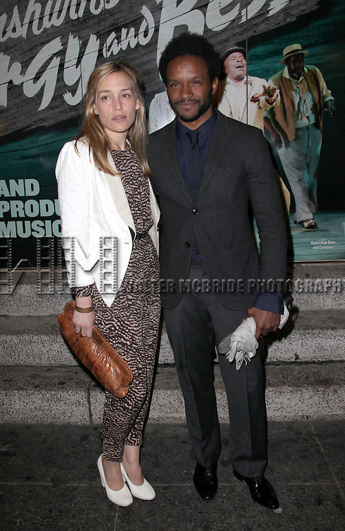 Piper Perabo; Luke Forbes.attending the Opening Night Performance of 'The Gershwins' Porgy & Bess' at the Richard Rodgers Theatre in New York City. 1/12/2012