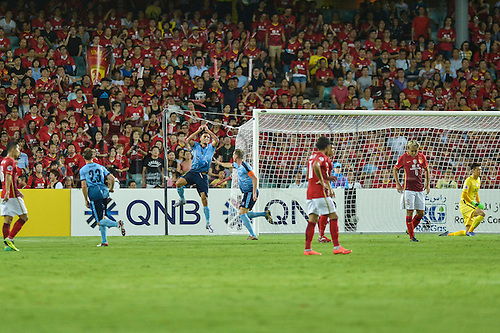 02.03.2016. Sydney, Australia. AFC Champions League. Sydney versus Guangzhou Evergrande. Sydney forward Robert Stambolziev celebrates as he scores his goal. Sydney won the game 2-1.