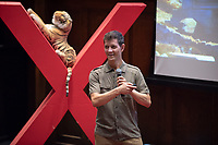 Roberto Milk, Chief Executive and Co-Founder of Novica, talks about changing routines.<br /> Occidental College hosts TEDxOccidentalCollege on April 21, 2018 in Choi Auditorium of Johnson Hall. Students, faculty, alums and guest speakers delivered their TEDx Talk on the theme, Shifting Ecosystems of Power.<br /> (Photo by Marc Campos, Occidental College Photographer)