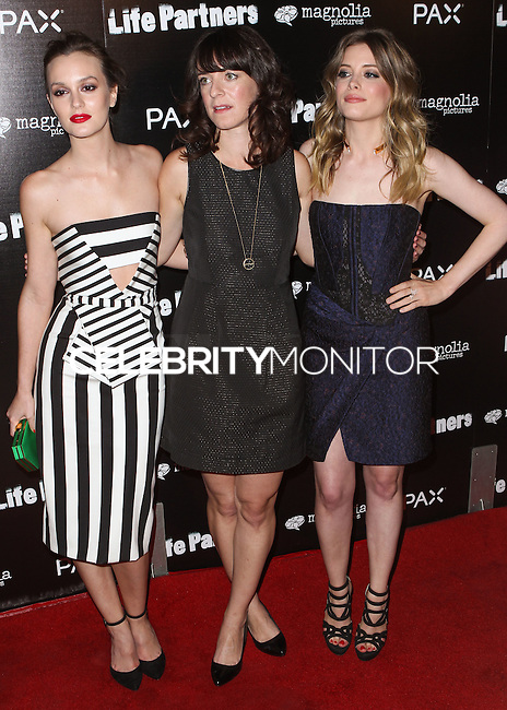 HOLLYWOOD, LOS ANGELES, CA, USA - NOVEMBER 18: Leighton Meester, Susanna Fogel, Gillian Jacobs arrive at the Los Angeles Special Screening Of Magnolia Pictures' 'Life Partners' held at Arclight Hollywood on November 18, 2014 in Hollywood, Los Angeles, California, United States. (Photo by Rudy Torres/Celebrity Monitor)