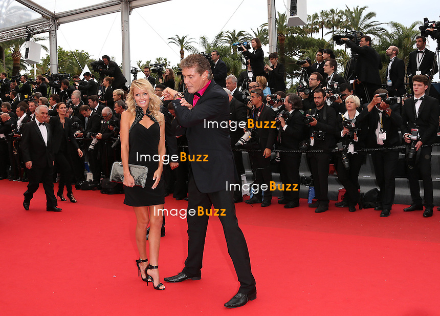 CPE/David Hasselhoff & wife attends the 'Jeune & Jolie' premiere during The 66th Annual Cannes Film Festival at the Palais des Festivals on May 16, 2013 in Cannes, France.