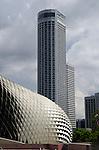 Singapore Raffles City behind Esplanade Theater