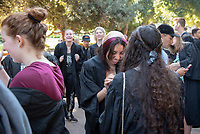 The class of 2023 are welcomed to Occidental College by trustees, faculty and staff in Thorne Hall on Aug. 27, 2019 during Oxy's 132th Convocation ceremony, a tradition that formally marks the start of the academic year and welcomes the new class.<br /> (Photo by Marc Campos, Occidental College Photographer)
