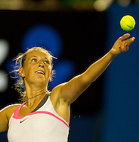Victoria Azarenka (BLR) (7) against  Vera Zvonareva (RUS) (9) in the Fourth Round of the Womens Singles. Azarenka beat Zvonereva 4-6 6-4 6-0..International Tennis - Australian Open Tennis - Monday 25 Jan 2010 - Melbourne Park - Melbourne - Australia ..© Frey - AMN Images, 1st Floor, Barry House, 20-22 Worple Road, London, SW19 4DH.Tel - +44 20 8947 0100.mfrey@advantagemedianet.com