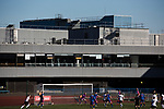 The sports centre at the Commonwealth Stadium provides a backdrop as Edinburgh City took on Elgin City in an SPFL League 2 fixture at Meadowbank. The ground was due to be demolished at the end of the 2016-17 season, City's first in the Scottish League since promotion the previous season from the Lowland League. Edinburgh City won this game 3-0, their best result of the season thus far, watched by 396 spectators.