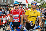 Tayler FARRAR (USA, GRS) and Marcel KITTEL (GIA) at the start, Stage 4 Hotel Verviers - La Gileppe (Jalhay), België, Ster ZLM Toer, Gileppe Belgium, 21th June 2014, Photo by Thomas van Bracht / Peloton Photos