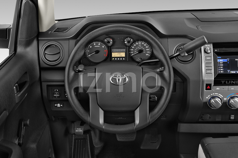 Car pictures of steering wheel view of a 2015 Toyota Tundra 5.7 Auto SR Regular Cab 2 Door Truck Steering Wheel