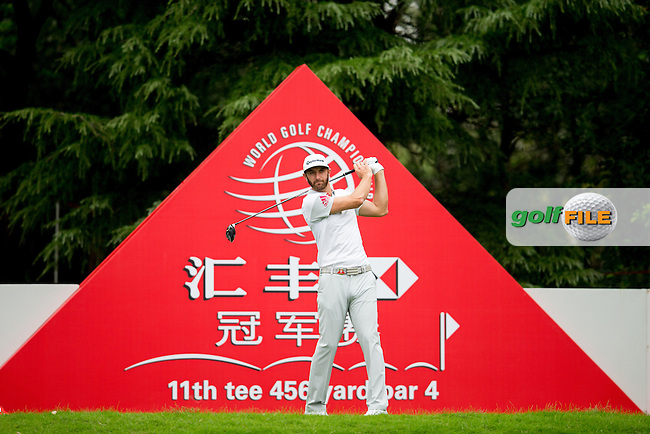 Dustin Johnson (USA) on the 11th tee during the 1st round f the WGC-HSBC Champions, Sheshan International GC, Shanghai, China PR.  27/10/2016<br /> Picture: Golffile | Fran Caffrey<br /> <br /> <br /> All photo usage must carry mandatory copyright credit (&copy; Golffile | Fran Caffrey)