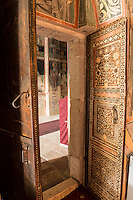 Carved door, Piva Monestary, Montenegro, Paintings by Longin and other artisans from 1600's.