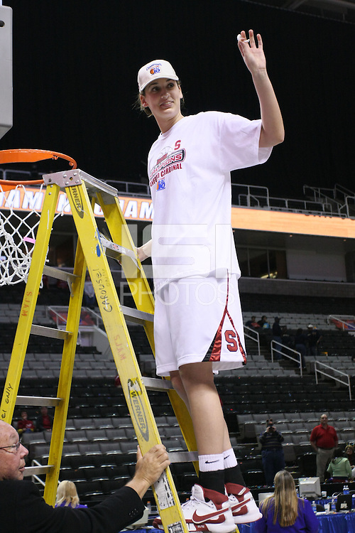 10 March 2008: Stanford Cardinal Ashley Cimino during Stanford's 56-35 win against the California Golden Bears in the 2008 State Farm Pac-10 Women's Basketball championship game at HP Pavilion in San Jose, CA.