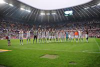 FUSSBALL   1. BUNDESLIGA  SAISON 2011/2012   1. Spieltag FC Bayern Muenchen - Borussia Moenchengladbach           07.08.2011 JUBEL nach dem Sieg  Borussia Moenchengladbach in der ALLIANZ ARENA
