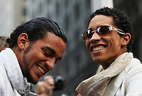 UNITED STATES, NEW YORK,  November 19, 2011..Ivan Cabrera (R) and Jonathan Lopez a gay couple of protesters affiliated with the Occupy Wall Street movement Celebrates Their symbolic wedding at Zuccotti Park, In Lower Manhattan New York November 19, 2011. VIEWpress /Kena Betancur.