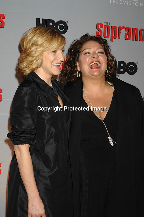 Edie Falco and Aida Turturro..arriving at The Sopranos World Premiere of two new episodes of the HBO original series on March 27, 2007 at..Radio City Music Hall in New York...Robin Platzer, Twin Images