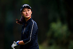 Xiyu Lin of China looks on during the Hyundai China Ladies Open 2014 on December 10 2014 at Mission Hills Shenzhen, in Shenzhen, China. Photo by Xaume Olleros / Power Sport Images