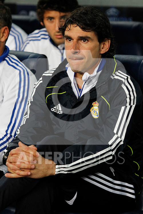 Real Madrid's Second Coach Aitor Karanka during UEFA Champions League match.May 3,2011.(ALTERPHOTOS/Acero)
