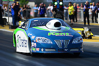 May 18, 2012; Topeka, KS, USA: NHRA pro stock driver Steve Kent during qualifying for the Summer Nationals at Heartland Park Topeka. Mandatory Credit: Mark J. Rebilas-