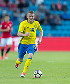 June 1th 2017, Ullevaal Stadion, Oslo, Norway; International Football Friendly 2018 football, Norway versus Sweden;  Sam Larsson of Sweden in action during the International Football Friendly match