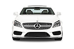 Car photography straight front view of a 2015 Mercedes Benz CLS-Class CLS400 2 Door Coupe Front View