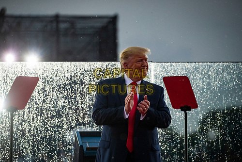 "U.S. President Donald Trump participates during the Fourth of July Celebration 'Salute to America' event in Washington, D.C., U.S., on Thursday, July 4, 2019. The White House said Trump's message won't be political -- Trump is calling the speech a ""Salute to America"" -- but it comes as the 2020 campaign is heating up. <br /> h<br /> CAP/MPI/CNP<br /> ©CNP/MPI/Capital Pictures"