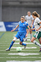 Kelly Smith dribbles the ball. Saint Louis Athletica defeated the Boston Breakers 1-0 in Cambridge, Massachusetts on June 14, 2009.