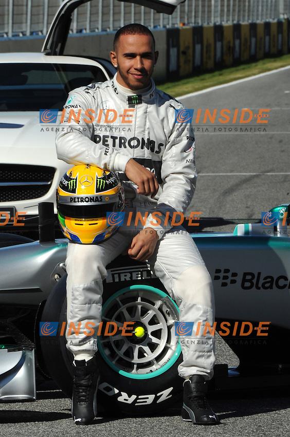 Formule 1: Test  Jerez 04/02/2013.LEWIS HAMILTON (GBR) - MERCEDES F1W04 - AMBIANCE PORTRAIT . .Foto Gilles Levent / Panoramic / Insidefoto.ITALY ONLY