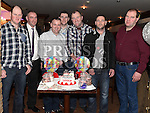 Darren Arnold celebrating his 21st birthday in Daly's of Donore with all his uncles. Photo:Colin Bell/pressphotos.ie