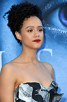 Actress Nathalie Emmanuel at the season seven premiere for &quot;Game of Thrones&quot; at the Walt Disney Concert Hall, Los Angeles, USA 12 July  2017<br /> Picture: Paul Smith/Featureflash/SilverHub 0208 004 5359 sales@silverhubmedia.com
