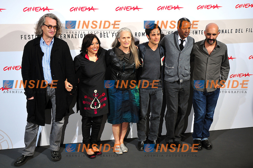 Wim Wenders Mira Nair Jane Campion Gael Garcia Bernal Abderrahmane Sissako Gaspar Noe<br /> Third edition of the Rome International film festival<br /> Roma 23/10/2008 <br /> Photocall '8'<br /> Photo &copy; Luca Cavallari Insidefoto