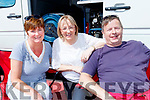 Helen Hurley, Tralee, centre, with Mary&Jim Meade relaxing at the service area for the Rally of the Lakes in Killarney last Sunday.