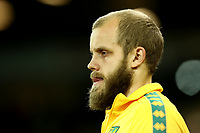 1st January 2020; Carrow Road, Norwich, Norfolk, England, English Premier League Football, Norwich versus Crystal Palace; Teemu Pukki of Norwich City walks out of the tunnel - Strictly Editorial Use Only. No use with unauthorized audio, video, data, fixture lists, club/league logos or 'live' services. Online in-match use limited to 120 images, no video emulation. No use in betting, games or single club/league/player publications