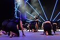 Dancers perform on the main stage at dance trade show, Move It, ExCel, London.